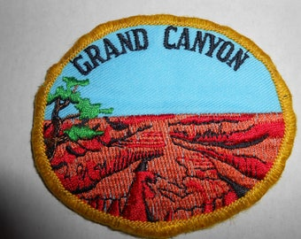 "Vintage Grand Canyon National Park Arizona Patch 3""x2.5"""