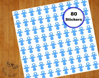 Pacifier Stickers, 80, Baby Pacifier Planner Stickers, Baby Pacifier Sticker Set, Baby Pacifier Envelope Seals, Baby, Baby Pacifier, Shower