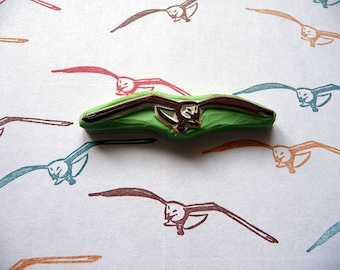 Seagull Bird Rubber Stamp, Hand Carved Hand Made Birds Stamp, Scrapbooking, Card Making, Gift Wrapping