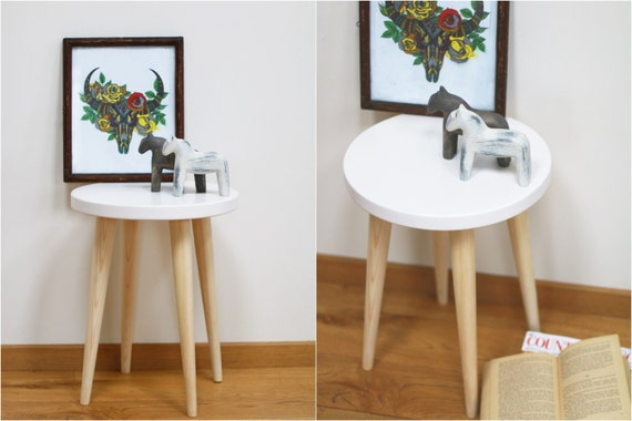 Like this item? & White Stool Round table Scandinavian style Side table Wood islam-shia.org