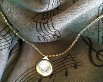 Silver Plated Plateau Flute Key Necklace