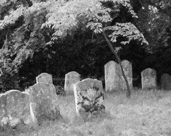 B&W Photography, Cemetery Art, Graveyard, Cemetery Photography, Halloween Decor, Gothic Art, Photo on Canvas, Art on Canvas, Canvas Art