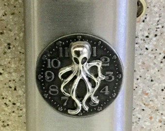 Stainless Steampunk Flask Keychain