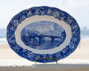 Windsor Bridge porcelain plate. Thames River Scenes by Palissy Pottery England