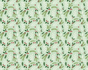 Comfort and Joy - Floral Lt. Green by Design by Dani for Riley Blake Designs, 1/2 yard, C6266-Lt Green