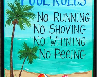 Family Pool Rules Etsy