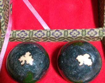 Vintage Chinese Therapy Balls Cloisonne Musical Boading Asian