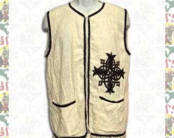 Ethiopian Traditional hand embroidered Vest M