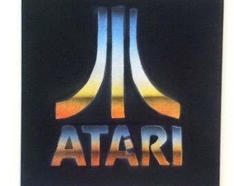 ATARI Pop Art Painting 12x12 Graffiti video game