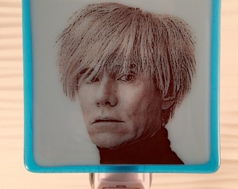 Andy Warhol Night Light Fused Glass