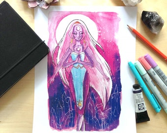 Opal-Steven Universe Watercolor Illustration Print