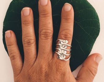 silver (925) stacked ring