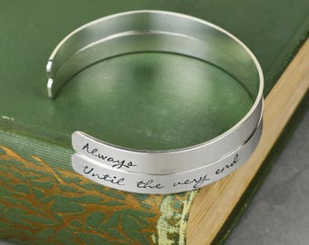 Always Until The Very End Aluminum Brass or Copper Bangle Set