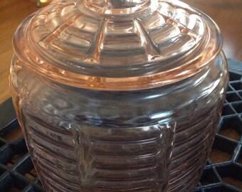 Vintage Anchor Hooking Pink Horizontal Cookie Jar