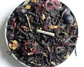 Bramble Gin Tea: Black Tea, Blackberry Tea, Gin Gift, Tea Gift, Tea Collection, Tea Lover, Gift for Women, Loose Leaf Tea, Gift for Her