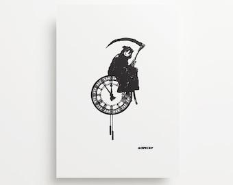 Banksy's Reaper Time Giclée Print