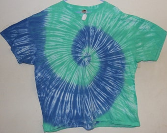 Adult 3X T-Shirt, Mint/Sky (E)