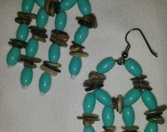 Turquoise dream catcher earrings