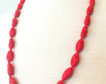 Mariam Haskell Coral Necklace