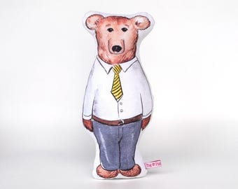 Daddy Bear Softie // cushion, baby's room, nursery, childs room, children's bedroom, imaginative play, waldorf, steiner