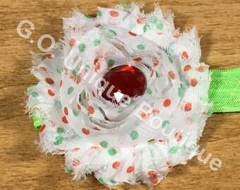 Adult Shabby Flower Headband