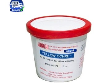 GriffithYellow Ochre Powder 2 Oz - oldering Anti Flux, Coat Surfaces & More WA 914-143