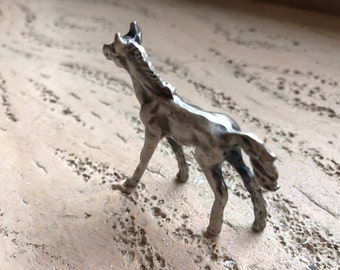 Pewter horse,pewter colt,small,pewter, horse figurine,baby horse