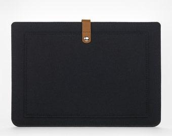 MacBook Air 13 Sleeve – MacBook Case – Macbook Air 13 Cover - MacBook Leather - Felt and Leather Case - Macbook Sleeve - Gift for Coworker