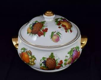 Vintage Churchill England Fruit Salad Bowl Tureen Vegetable lidded Bowl