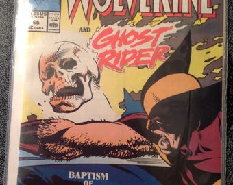 Marvel Wolverine and Ghost Rider Comic Book