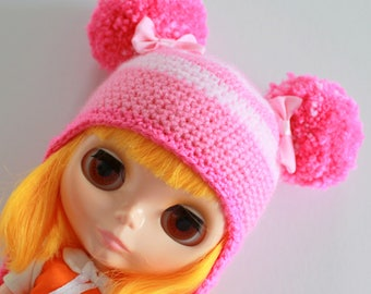 EASTER SALE! Bubblegum Baby Hat - A Hat For Neo Blythe and Pullip - Blythe Clothes - Dolls Hat  - Blythe Helmet - Eriko's Emporium