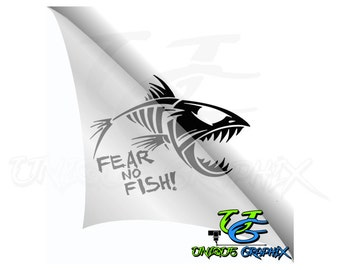 Fear no Fish Fishing Decal Boat/window Sticker