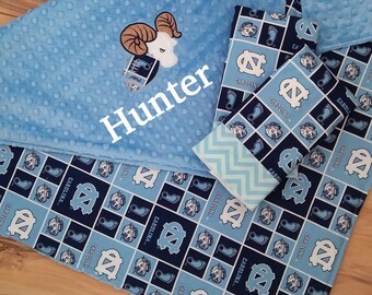 NC Tarheels  Baby Blanket Set