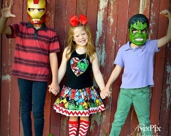 girls Marvel dress hulk 4/5 6/6X 7/8 10/12 14/16 ready to ship