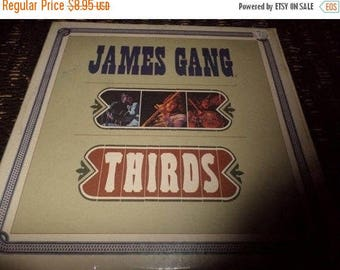 Save 30% Today Vintage 1971 LP Vinyl Record James Gang Thirds Very Good Condition ABC Records X-721