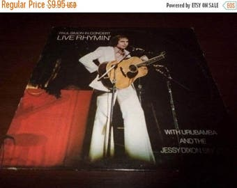 Save 30% Today Vintage 1974 Vinyl LP Record Live Rhymin' Paul Simon Excellent Condition 5284