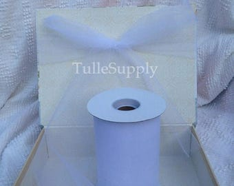 BLOWOUT White Tulle Roll, tulle roll, tulle fabric, tulle spool, tutu supply, wholesale tulle, tulle rolls, tutu fabric, tutu supplies