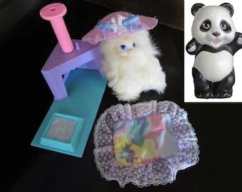 Barbie's Pet Cat, Honey the Prettiest Kitty Belongs to Barbie 1991, Animal Lovin Barbie Panda Pet 1988, Mattel, Kenner Cat Playhouse
