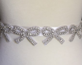 Wedding belt | bridal sash | childs bridal | bow motifs