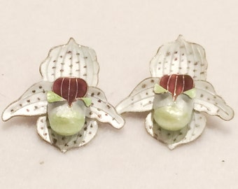 "Vintage Rare Onion Earrings Marked on Earring Backs ""Silver"""