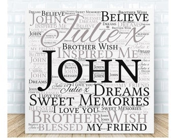 Brother Wish Ceramic Plaque. Personalised Gift. Birthday, Christmas