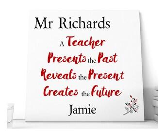 Teacher Personalised Thank You Ceramic Plaque