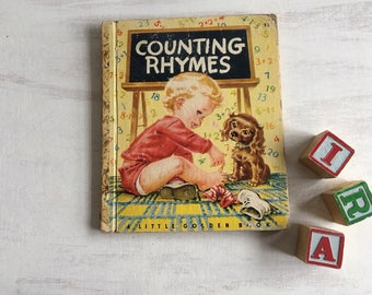 Vintage 1946 Counting Rhymes Little Golden Book