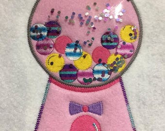 Bubble Gum Machine - Bubblegum - Candy -  4 x 4 and 5 x 7 Included -  DIGITAL Embroidery DESIGN