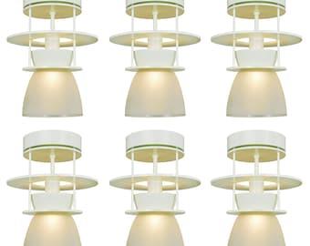 Set of Six Atomic MidCentury Modern Ceiling Lights Semi Flush Mount (ANT-735)