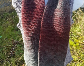 Super soft knit scarf, winter wear, holiday gift, woman scarf, scarves and wraps oxford/claret
