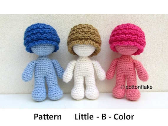 Amigurumi Human Body : Pattern Little - B - Color , doll amigurumi crochet, human ...