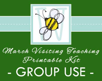 GROUP USE: March VT Printable Kit