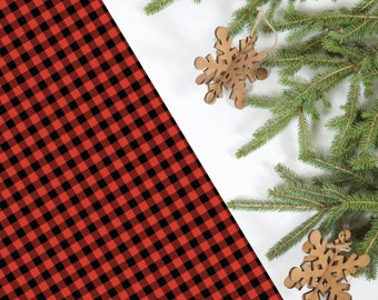 Red Buffalo Plaid Wrapping Paper, 5 Sheets