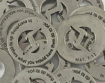 In Everything, do to others Mat 7:12 Scripture Coin - Set of 100 - FREE USA shipping